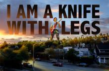 I Am A Knife With Legs guitarist on top of Los Angeles