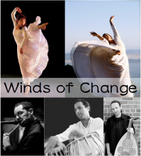 Winds of Change artists: Mariana Rose Thorn, Kristen Sague, Robert Kyle, Javad Butah, Derek Wright